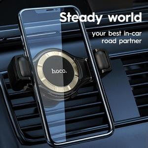 Image 4 - HOCO S1 Lite Clip Adjustable One Hand Operate GPS Air Vent Car Phone Holder Support Dropshipping