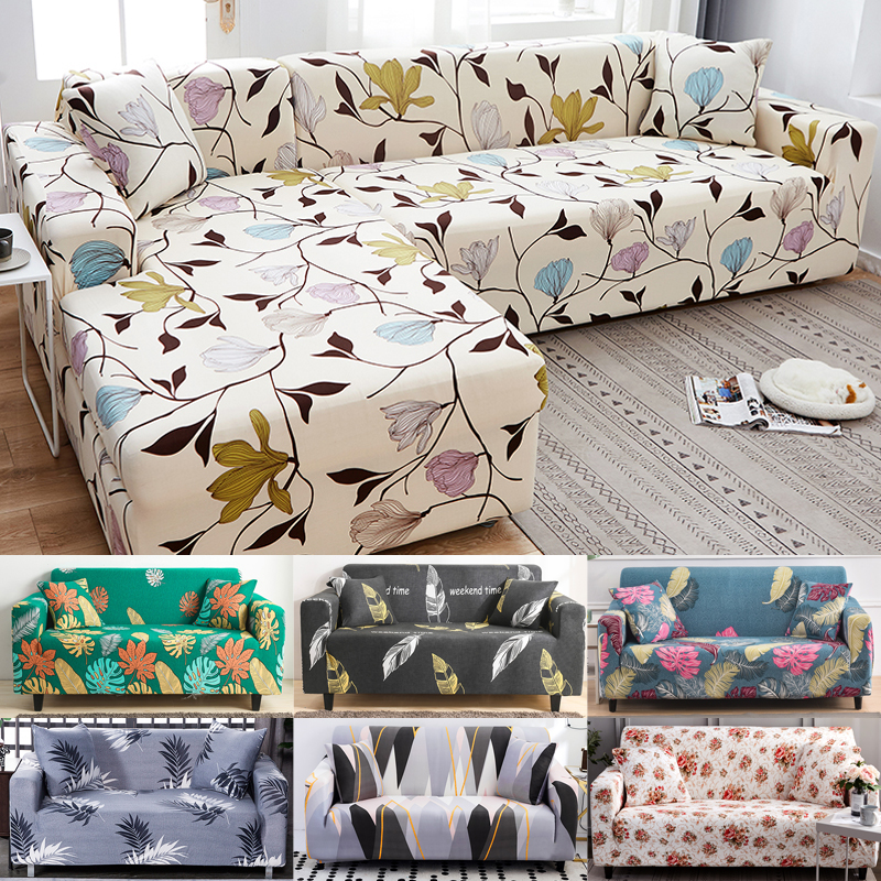 couch cover spandex sofa cover for living room sectional sofa slipcover stretch L shape sofa armchair