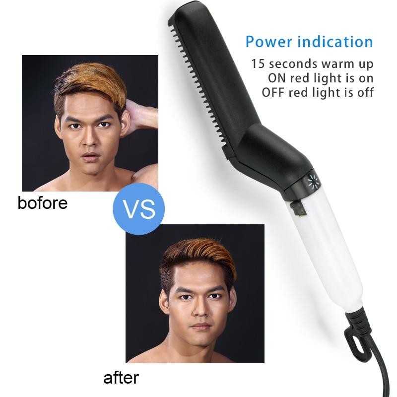 Multifunctional Hair Comb Brush Beard Straightener Hair Straightening Comb Hair Curler 1
