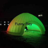 Party product wedding tent colorful led inflatable dome tent Outdoor 10m inflatable party house led light for exhibition