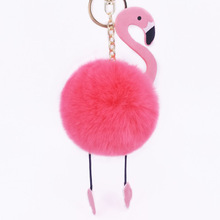 New 15cm Plush Toys Stuffed Animals Colorful Flamingo Hairball Pendant Cute Keychain Nice Decor For Phone
