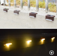 12Pcs/lot Solar Deck Lights, Bronze Finished Waterproof Led Solar Lamp for Outdoor Pathway, Yard, Patio, Stairs, Step and Fences