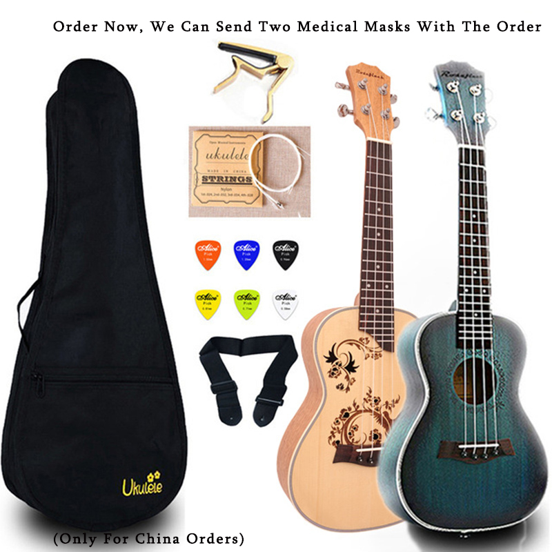 23 Inch Ukulele Concert Mini Guitar Mahogany Guitar With Bag Capo Belt Selection Gift Hawaii Ukulele UK2329A