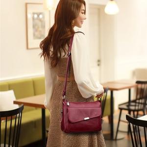 Image 3 - Summer Style 2020 Bolsas Soft Leather Luxury handbags Women bags Designer Multi pocket Crossbody Shoulder Bags For Women Sac