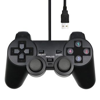 Wired USB Controller Gamepad For WinXP/Win7/Win8/Win10 For PC Computer Laptop Black Game Joystick 3 pcs wired usb joystick usb pc gamepad gaming controller game joypad for pc computer laptop gift free shipping