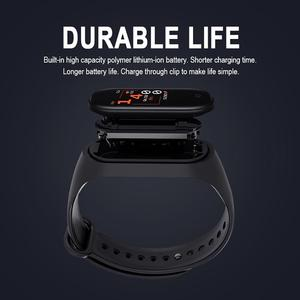 Image 2 - M4 Smart Wristband Waterproof Blood Pressure Heart Rate Monitor FitnessTracker Smart Bracelet M4 Band Watch Sport Pedometer