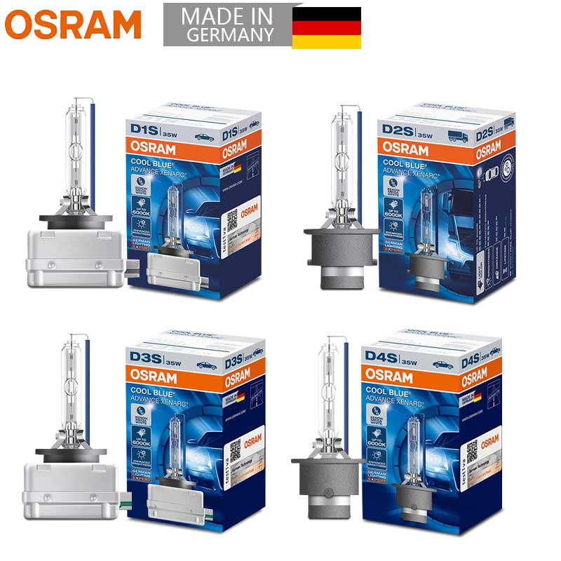 OSRAM HID Xenon Headlight Auto Lamp D1S D2S D3S D4S 35W 12V Mega White 66140 66240 66340 66440 CBA (Single)|Car Headlight Bulbs(Xenon)| |  - title=