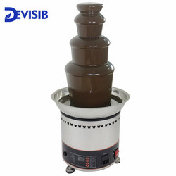 DEVISIB 4 Tier Commercial Chocolate Fountain Fondue with Stainless Steel 304 Material Christmas Wedding Event Party Supplies