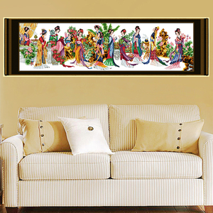 Image 2 - Joy Sunday Twelve Jinling ladies Patterns Counted 11CT Printed Fabric 14CT Canvas DMC Cross Stitch DIY Handmade Home Decoration