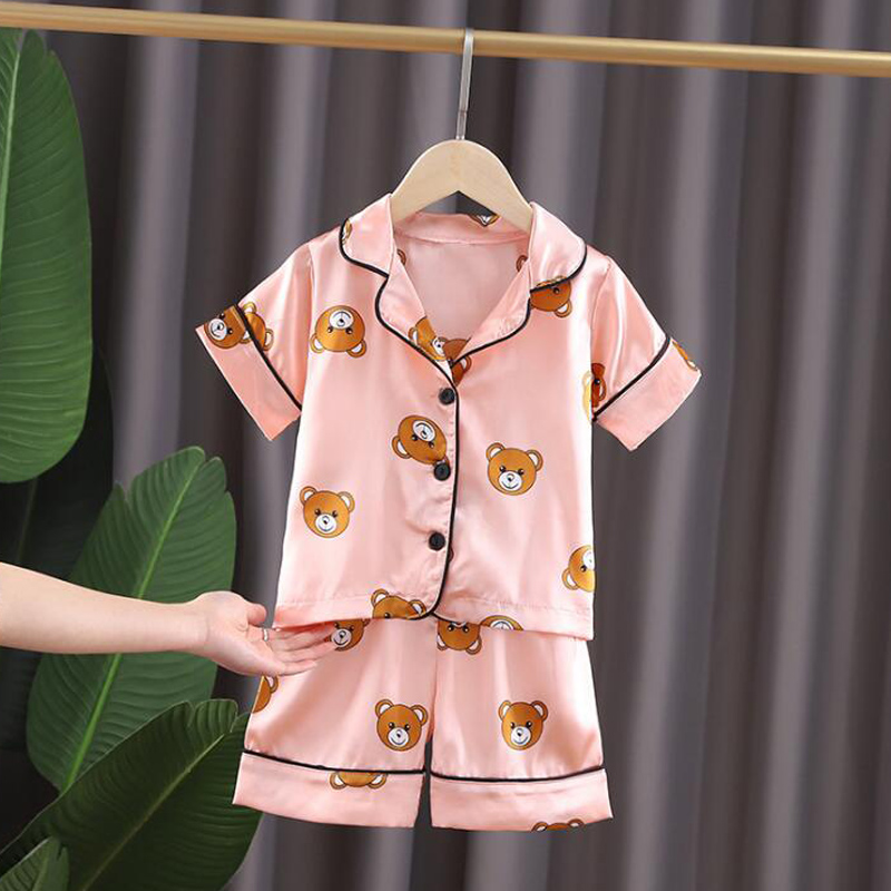 Kids Pajamas Set Toddler Sleepwear New Summer Pijamas For Boys Clothes Baby Girls pajamas Suit Boys Pyjamas Children Clothing 3