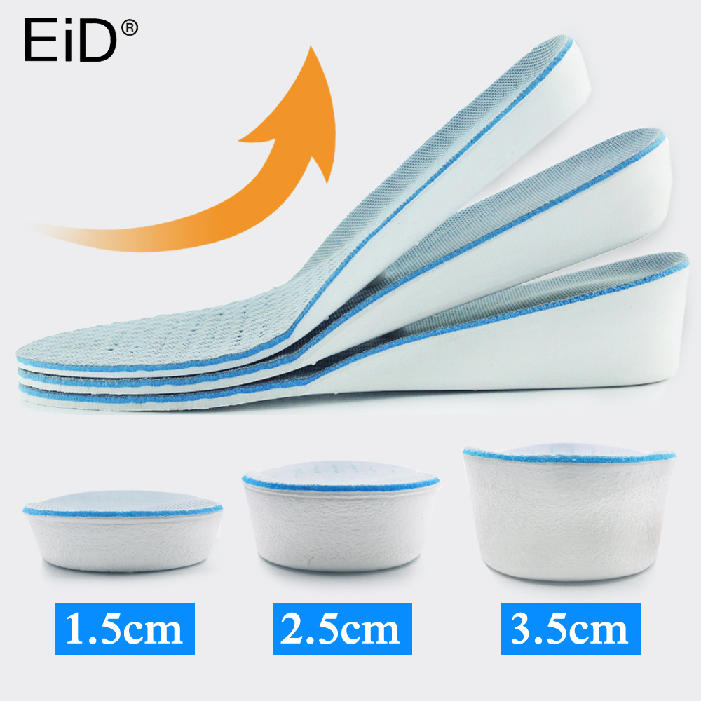 EVA Height Increase Insole For Shoes Women Man Height Increasing Shoes Pad Inserts Care Foot Pads Comfortable Soles For Shoes