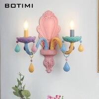 BOTIMI kristal duvar yatak odası için lamba cam duvar lambası başucu lambası renkli duvar aplik kapalı armatür yatak odası aydınlatması