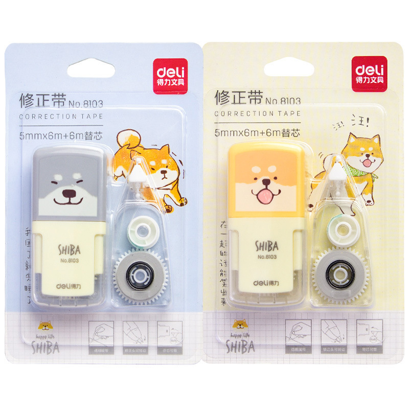 5mm*6m Cute Shiba Inu Correction Tape Kawaii Cartoon Correction Tool For Kids Gifts School Office Stationery Correction Supplies
