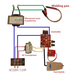 Image 5 - Панель управления аппаратом для точечной сварки, строительная плата управления, плата управления таймером, током, временем и током, цифровой дисплей 40 А/100 А
