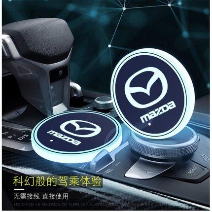 1Pcs Car 7 Color Led USB Cup Light Luminous Coaster Car LED Coaster For Mazdas CX-5 CX 5 CX5 2013 2015 2017 2018 2019 2020