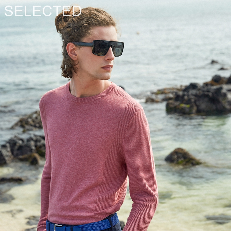SELECTED Men's New Cotton Blend Long-sleeved Winter Pullovers Round Neck Sweater S | 419324519