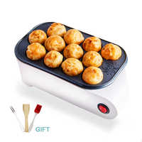 Small Takoyaki Maker BBQ Grill Non-stick pan Mini Frying pan baking plates electric Octopus Balls Machine 220V 500w With Gift