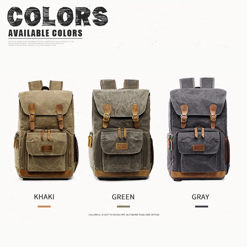 Image 3 - Camera Bag Batik Canvas Waterproof Photography Bag Outdoor Wear 