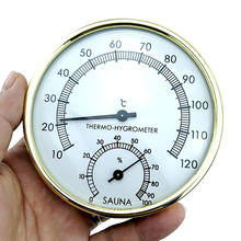 Stainless Steel Thermometer Hygrometer for Sauna Room Temper
