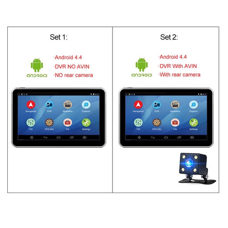7 cal android bluetooth wifi Quad-core 1.3GHz nawigacji GPS 1080p kamera do rejestracji wideo pojazdu nawigacja GPS 1080P rekord wideorejestrator samochodowy