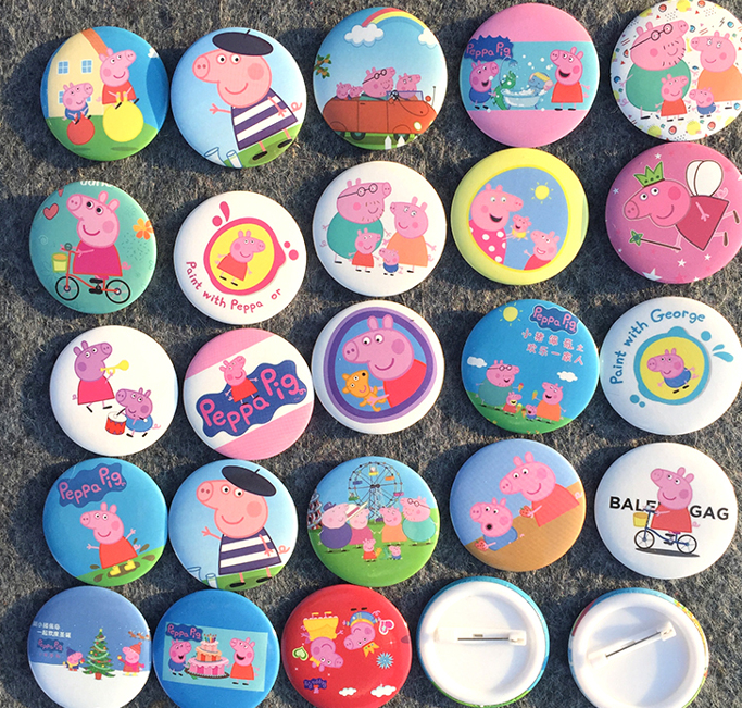 Genuine Peppa Pig Badge Pin Anime Action Figures Cartoon Clothes <font><b>Dress</b></font> Toys For Birthday <font><b>Party</b></font> Toy Girl Kids Gift Prize image