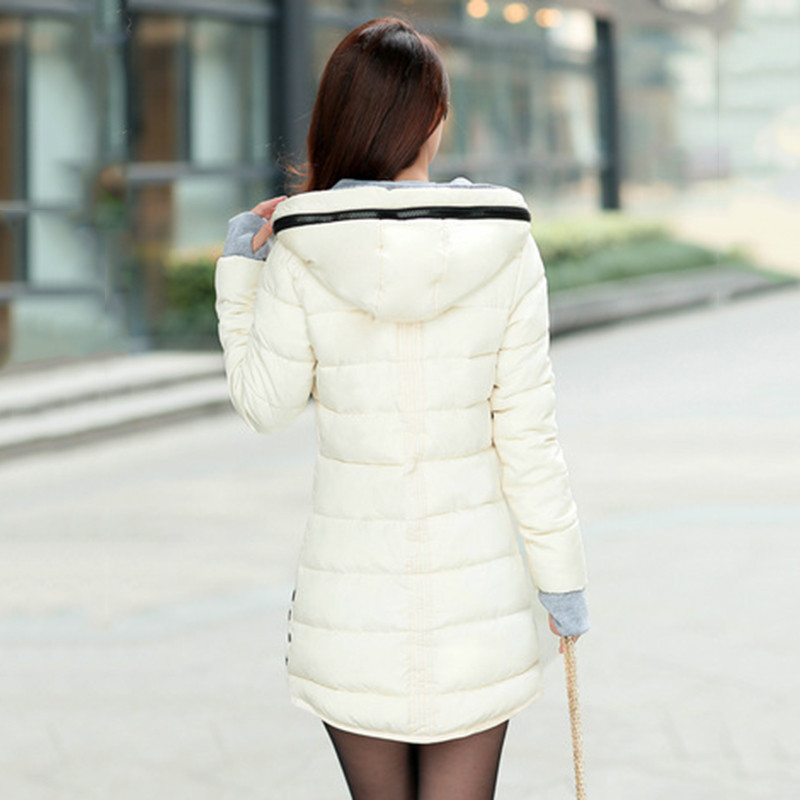 2018 Winter Jacket Women Plus Size Womens Jackets And Coats Female Cotton Padded Long Parka Korean Hooded Chaqueta Muje[]// 2
