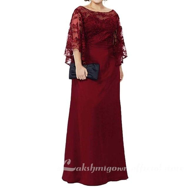 Blue Lace Top Plus Size Mother of the Bride Dress 4