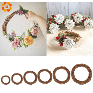 1pcs Natural Rattan Circle Easter Wreath Flower Shop DIY Handmade Wreath Wedding Party Decoration Props Home Decoration