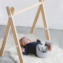 Nordic Style Wooden Baby Fitness Rack Children Room Decoration Toy Foldable Newborn Game Frame Hanging Rod Infants Shower Gifts