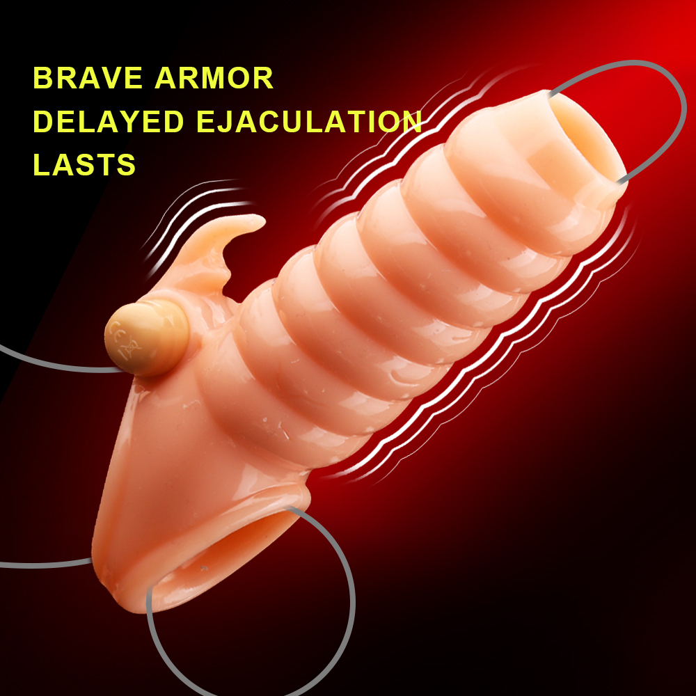 Dick Vibrating Sleeve For Men Dildo Extender Reusable Penis Ring Intimate Goods Penis Enlargement Rings Cock Massager Adult Toys
