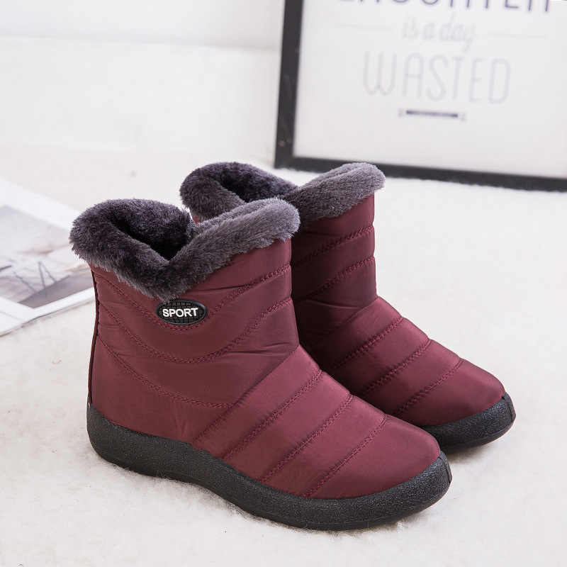 Women Boots 2019 Winter Shoes Woman Snow Boots With Fur Botas Mujer Waterproof Plus Size Women Shoes Winter Boots Female Booties