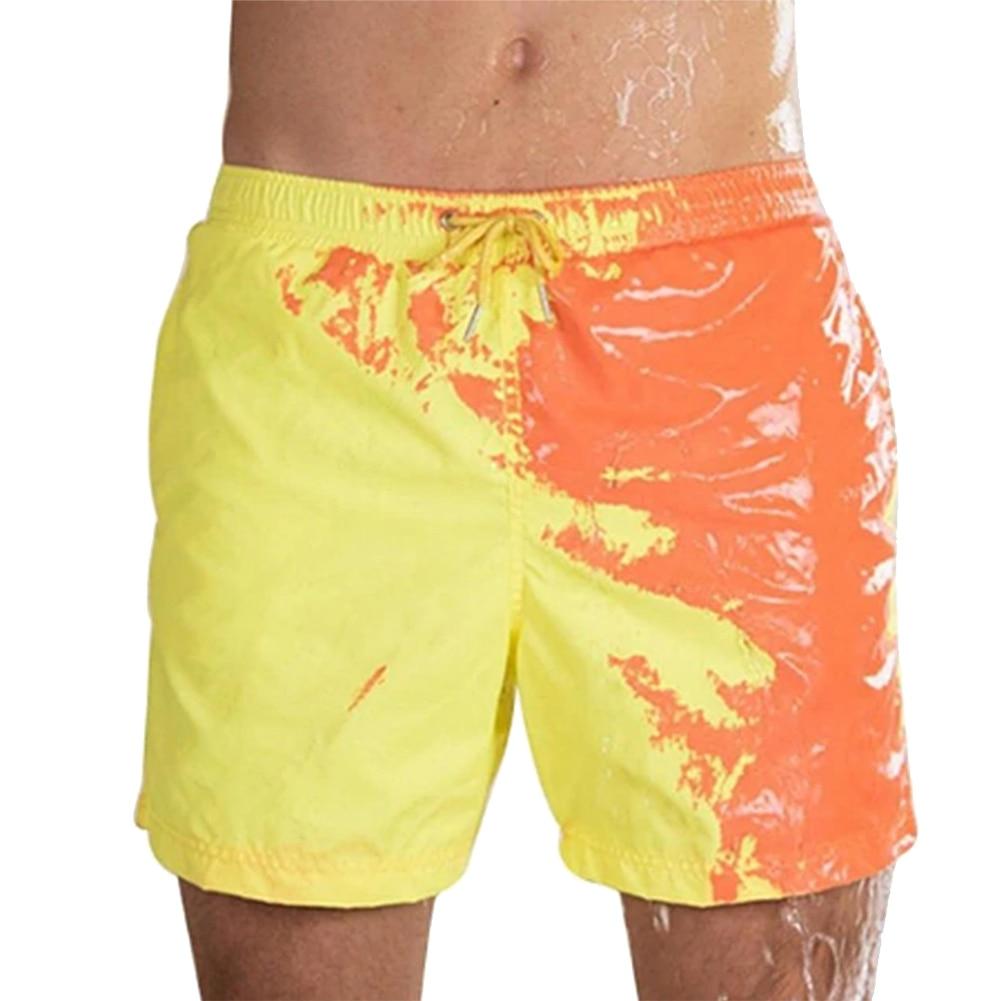 Hot DealsSwimwear Bathing-Shorts Swimming-Trunks Magical-Change-Color Quick-Dry Men