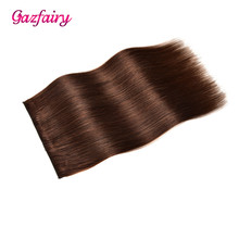 Gazfairy 22 70g Remy Hair Pieces Clip In One Piece Human Extensions Silky Straight 5 Clips