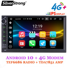 Silverstrong, Android10, Universele 1Din Autoradio Tape Recorder, Gps Auto Stereo, Lada Granta Android