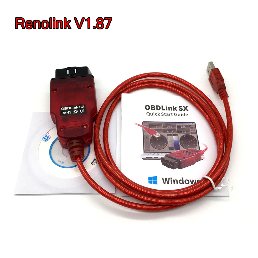Renolink V1.87 ECU Programmer For Renault Renolink Key Coding UCH Matching Dashboard Coding ECU Resetting Functions