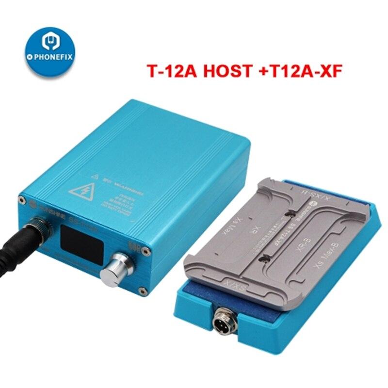 Aletler'ten Elektrikli Alet Setleri'de SS T12A XF ısıtma istasyonu LCD ekran çerçeve kaldırma aracı iPhone X XR XS MAX LCD onarım ısıtma platformu title=