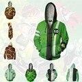 Аниме толстовки с капюшоном ben10 Alien Force Косплей Аниме Толстовка 3D для мужчин и женщин Топ куртки пальто Новинка