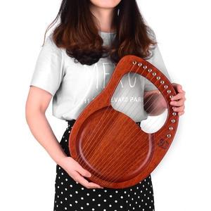 Image 5 - Walter. T Lier 16 String Houten Lier Harp Metalen Snaren Mahonie Massief Hout String Instrument Met Draagtas Stemsleutel