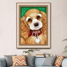Diy 5d алмазная картина для гостиной щенка спальни вышивка крестиком