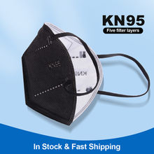FFP2 Mascarillas Reusable KN95 Mask Protective Face Mask 95% PM2.5 Anti-droplets ffp2 mask reutilizable Masques Black