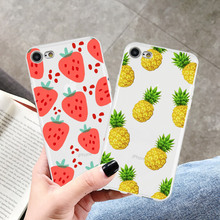 Soft TPU Silicone Phone Case for iPhone XR 8 7 6 6s Plus XS MAX X Cartoon Cute Fruits Transparent For 5S SE