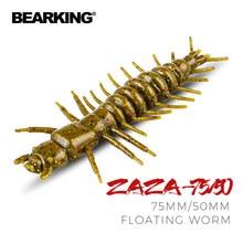 Bearking zaza 75mm 50mm flutuante isca de pesca isca macia shad silicone iscas wobblers swimbait artificial leurre souple