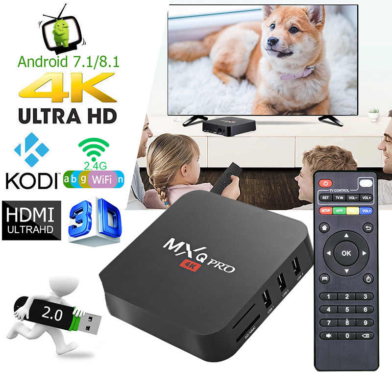 Android Tv Box Mxq Pro 4K Android 7.1 Hd 3D 2.4G Wifi S905W Quad Core Media Player Smart tv Android Tv Box Kan Abonneren Ip Tv
