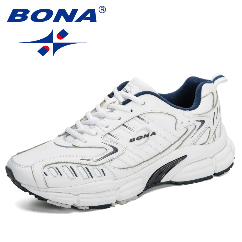 BONA 2020 New Designers Action Leather Popular Running Shoes Men Sneakers Walking Jogging Athletic Footwear Zapatillas Hombre