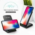 Для iphone 11 Pro Max X XR XS Max 10W Qi Беспроводное зарядное устройство для телефона Быстрая зарядка подставка Док-станция настольная Беспроводная подс...