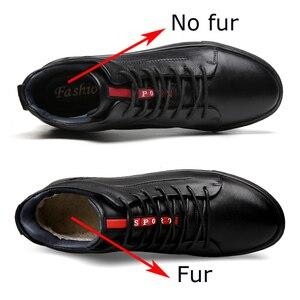 Image 4 - Mężczyźni prawdziwej skóry wysokie trampki jesień męskie buty zimowe Tenis Sneaker czarny Zapatilla Hombre Hip Hop Plus rozmiar 47 48