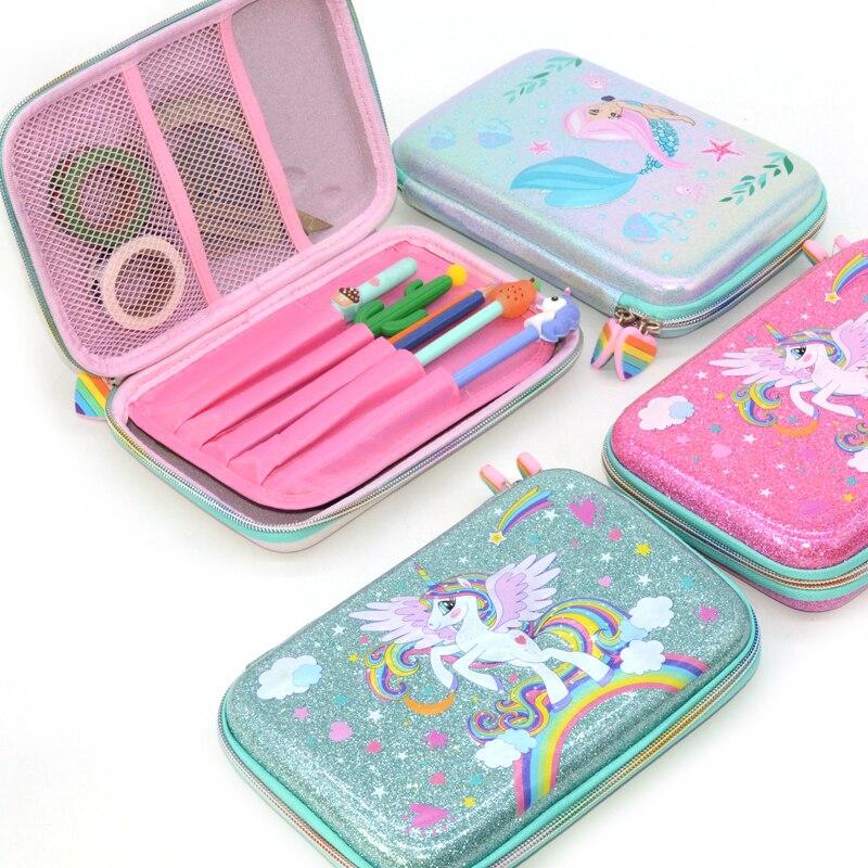 pencil case box back to school supplies material escolar trousse scolaire stylo unicorn estuches kalemlik kalem kutusu astuccio