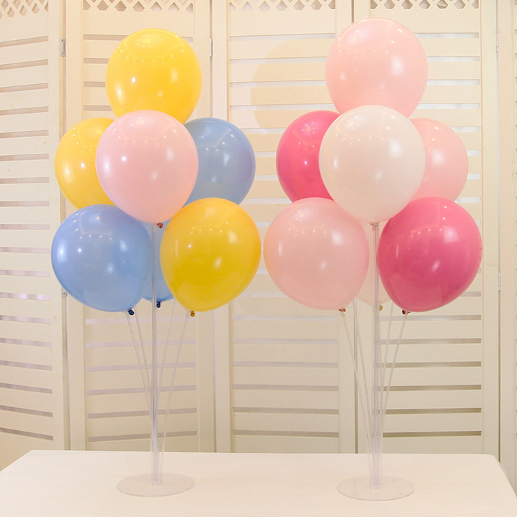 7 Tubes Balloons Stand Balloon Holder Column Confetti Balloon Birthday Party Wedding Decoration Supplies Baby Shower Kids