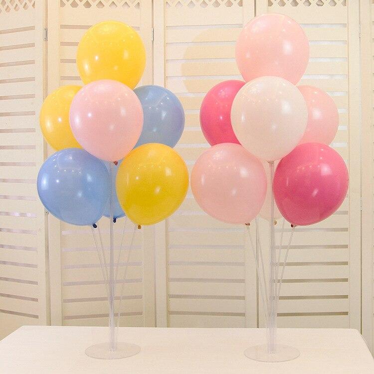 7 Tubes Balloons Stand Balloon Holder Column Confetti Balloon Birthday Party Wedding Decoration Supplies Baby Shower Kids