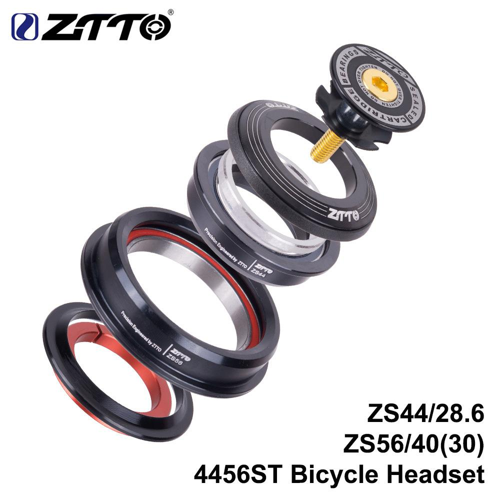 Kuulee ZTTO CNC ZS44/ZS56 MTB Bike Road Bicycle Headset Tapered Tube Fork Internal Threadless Bicycle Bearing Set